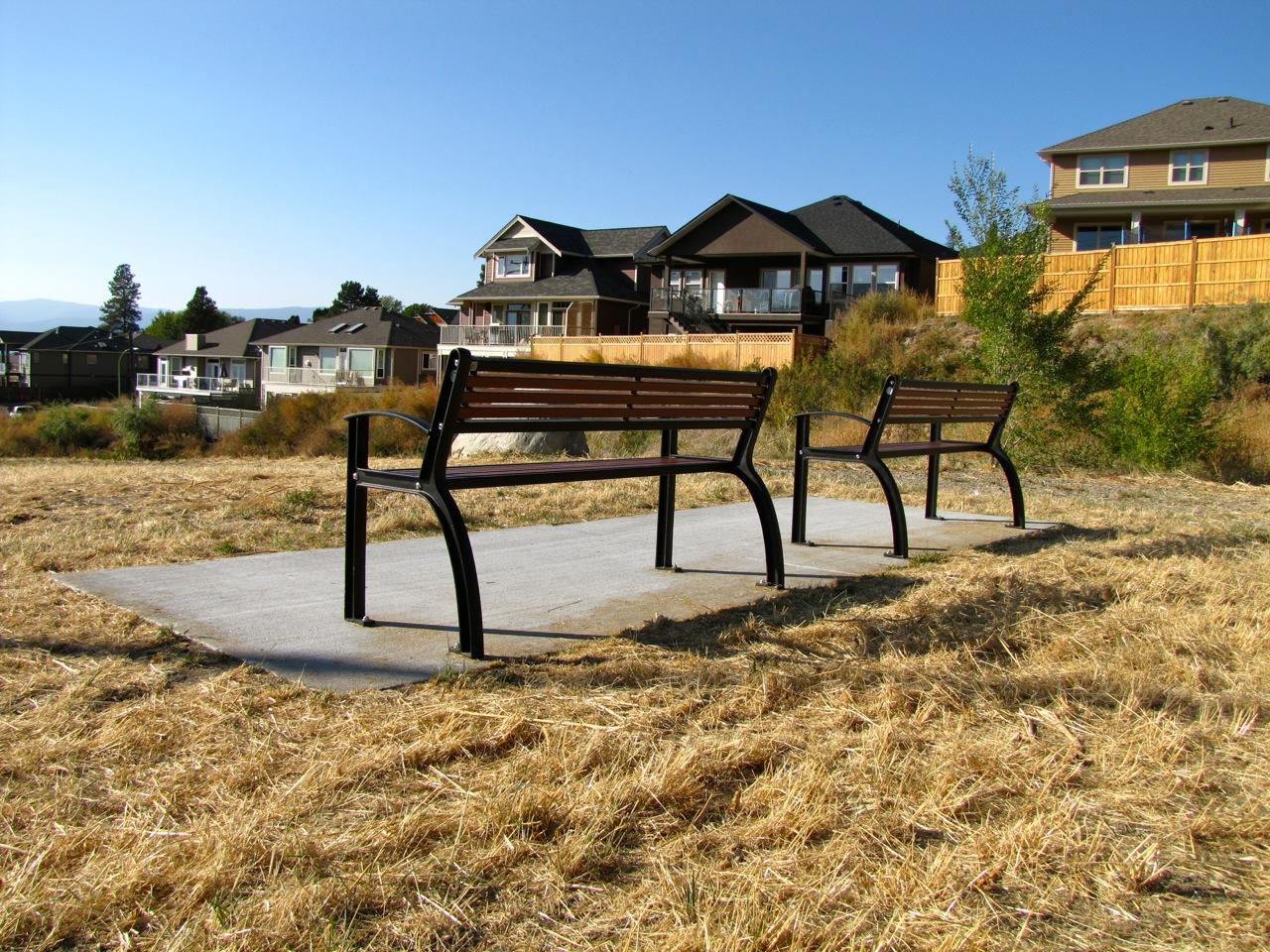 Beselt Park Bench All Metal Wishbone Site Furnishings