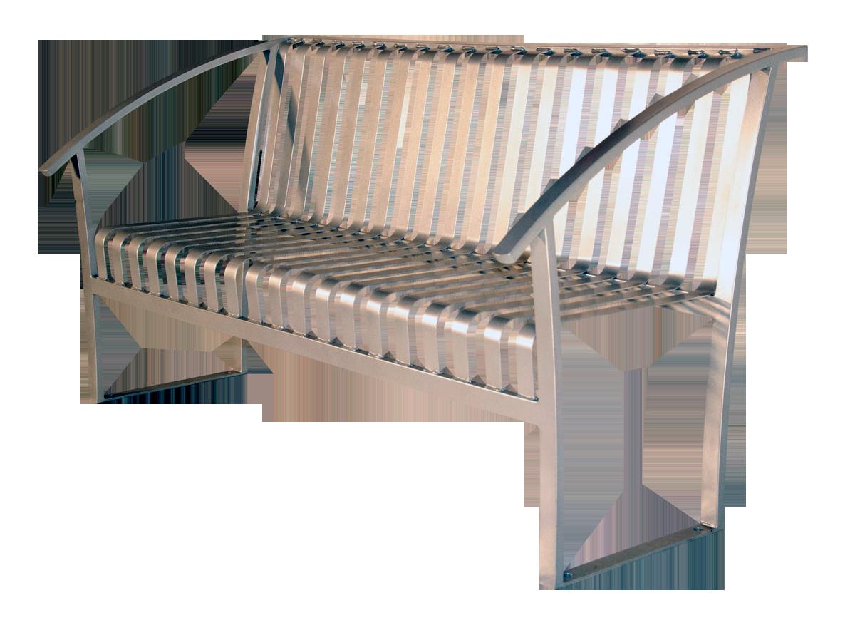 Turisno Park Bench All Metal Wishbone Site Furnishings
