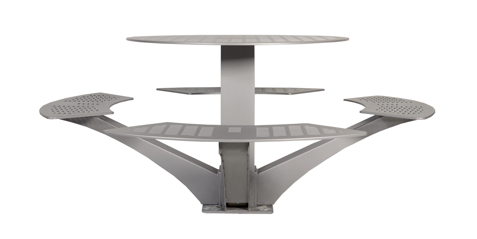 Urban Space Round Picnic Table All Aluminum Wishbone