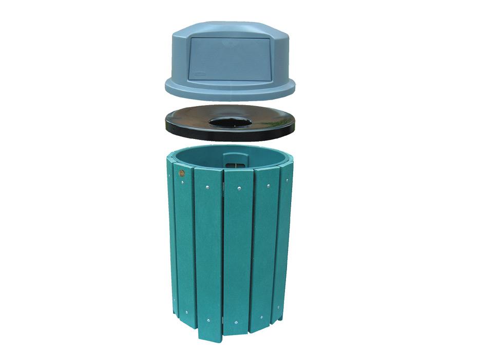 Park Series Waste Receptacle Wishbone Site Furnishings