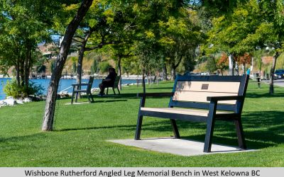 Wishbone Rutherford Angled Leg Memorial Bench in West Kelowna BC