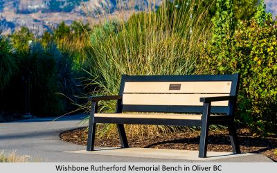 Wishbone Rutherford Memorial Bench in Oliver BC