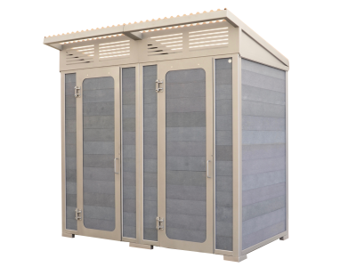 "The ""Forest"" Regular Double Stall Outhouse Building"