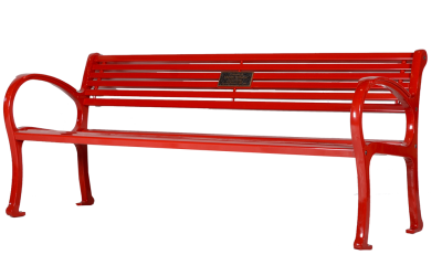 Mountain-Classic-6-Ft-All-Metal-Memorial-Bench