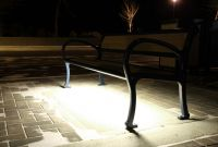 Mountain-Classic-Bench-with-LED-lighting-in-Peachland-BC-front-view