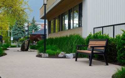 Rutherford-Angled-Leg-Memorial-Benches-at-David-Lloyd-Care-Home-in-Kelowna-BC