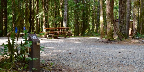 Wisbbone-4-x-6-Number-Post-Campsite-Marker-at-Little-Qualicum-Falls-Provincial-Park