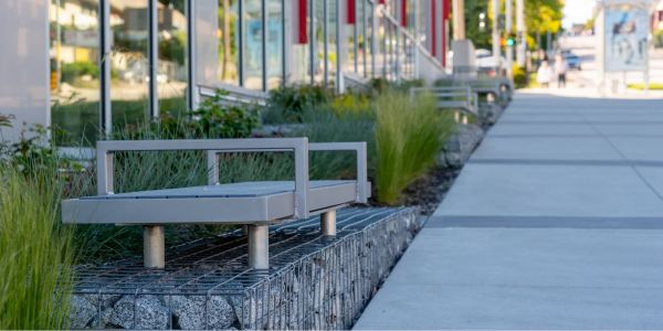 Wishbone Backless Skyline Benches at John Knox Christian School in New Westminster BC