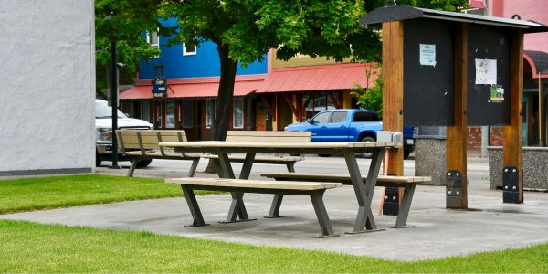Wishbone Bayview Wheel Chair Accessible Picnic Table in Kerameous BC