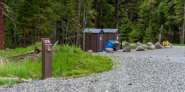 Wishbone Campsite Number Post at Kentucky Alleyne Provincial Park  (1)