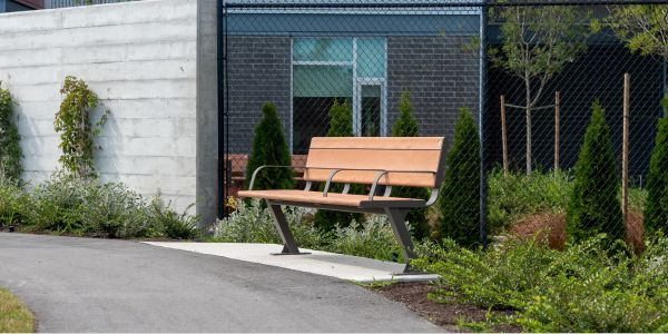 Wishbone Custom Bayview Plus Bench at the Summit at Quadra Village in Victoria BC