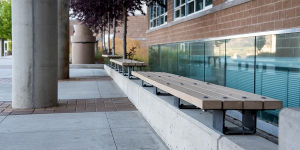 Wishbone Custom Skyline Wall Benches for Southern Okanagan Secondary School in Oliver BC