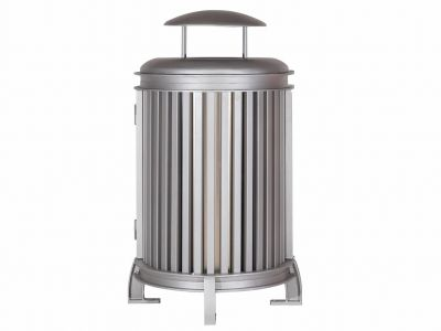 Beselt Large Capacity Round Waste Receptacle