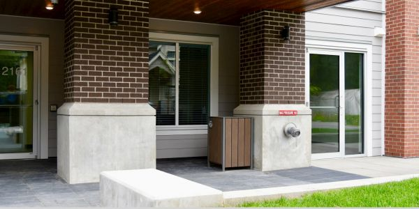 Wishbone Modena Square Top Waste Receptacle in Maple Ridge BC