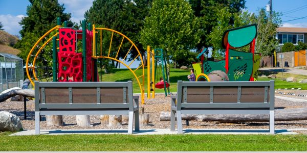 Wishbone Rutherford Wide Body Benches at Alexis Park in Vernon BC (1)