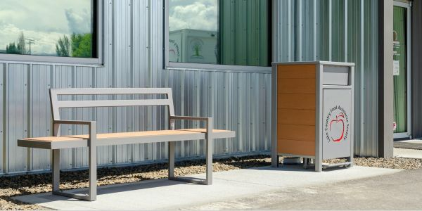 Wishbone Skyline Bench at the Lake Country Food Bank