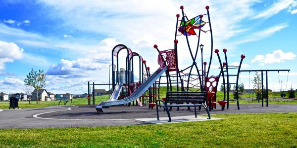 Wishbone-All-Metal-Modena-Park-Benches-at-CY-Becker-Subdivision-in-Edmonton-Alberta