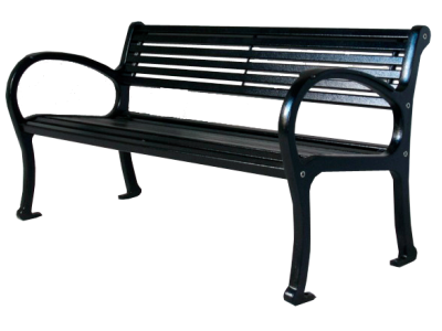 Mountain Classic Park Bench - All Metal