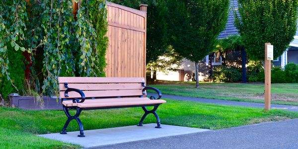 Wishbone-Classic-Bench-in-Crown-Isle-Subdivision-in-Courtenay-BC