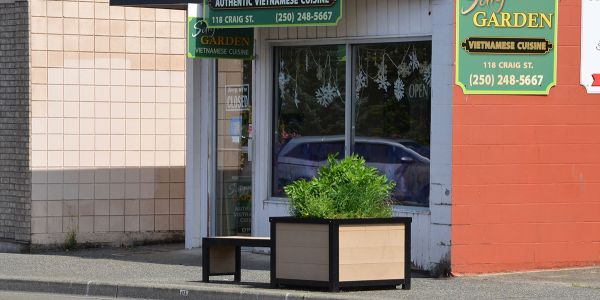 Wishbone-Custom-Urban-Form-Self-Watering-Planter-Bench-Combo-in-Parksville-BC