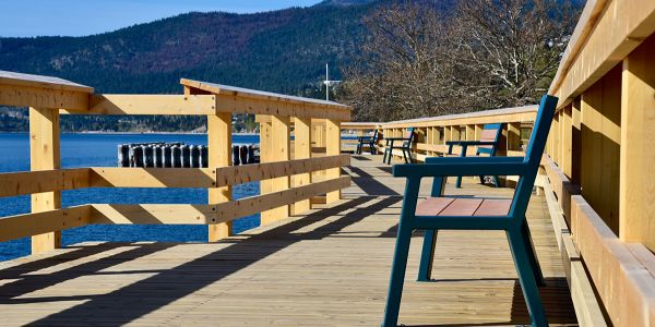 Wishbone-Rutherford-Benches-on-the-Pier-in-Peachland-BC