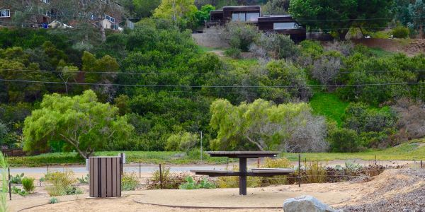 Wishbone-West-End-Waste-Receptacle-and-Single-Ped-Picnic-Table-in-Del-Mar-California