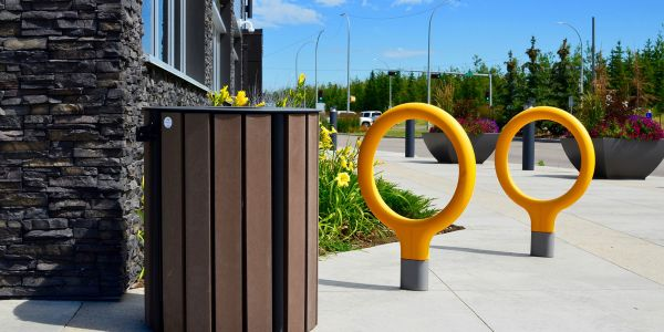Wishbone-West-End-Waste-Receptacle-at-Union-of-Healthcare-Professionals-in-Edmonton-Alberta