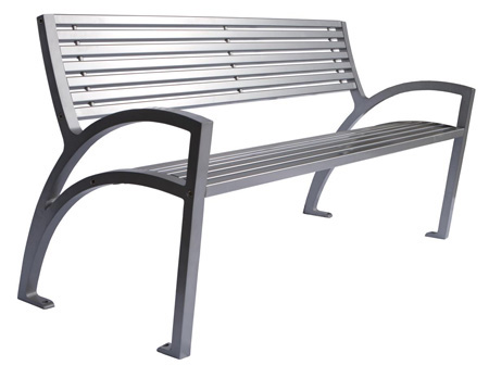 Modena Park Bench - All Metal