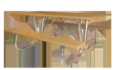 Public Place Picnic Table 2x10 Wishbone Site Furnishings