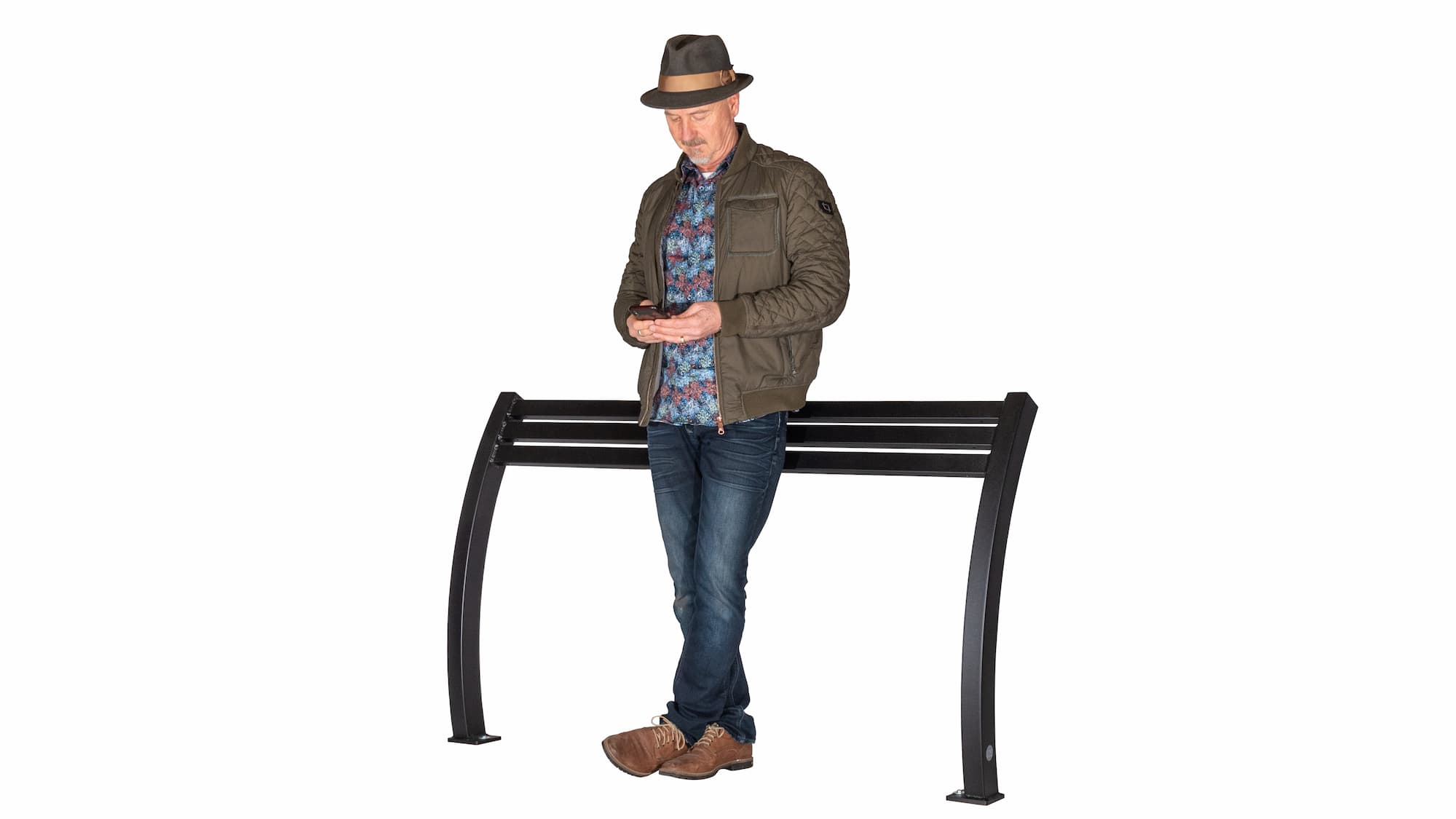 Parker All-Aluminum Leaning Bench