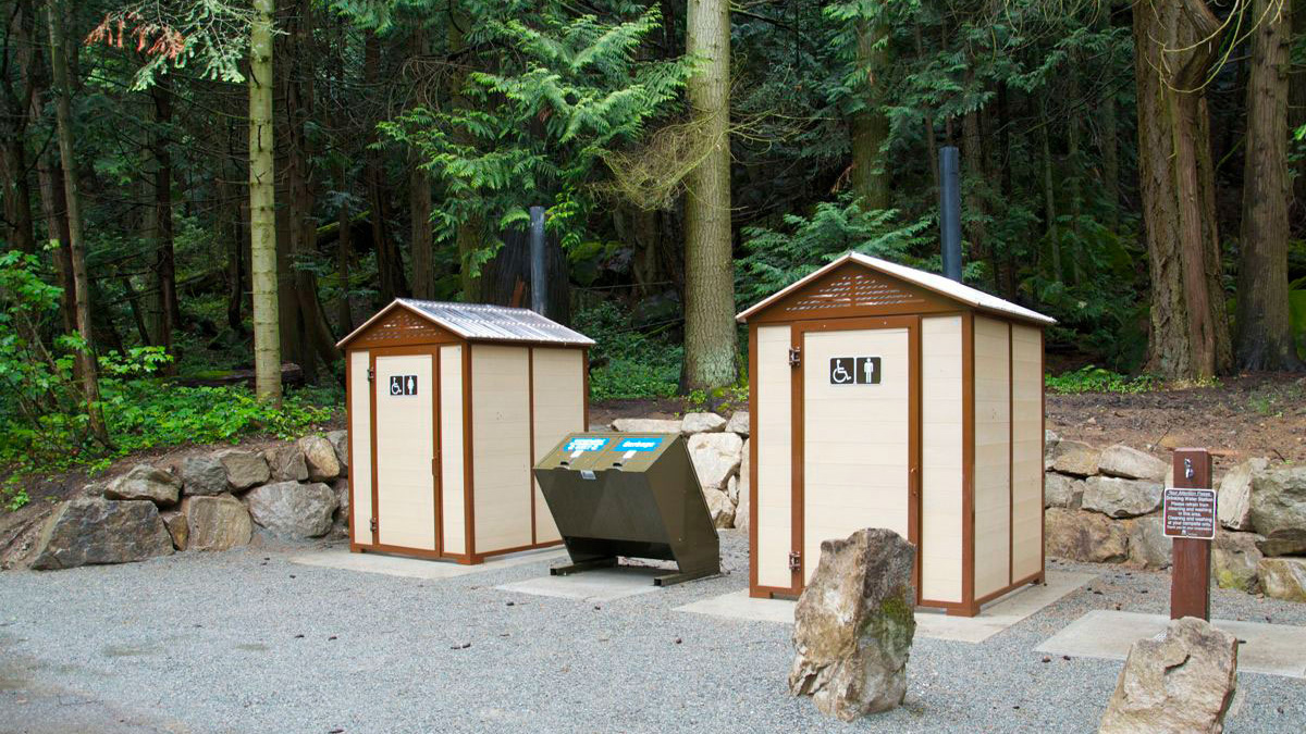 Pit Toilets Construction : Pit toilet building wishbone site furnishings